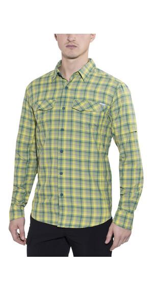 Columbia Silver Ridge Plaid Long Sleeve Shirt Men Mineral Yellow